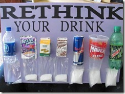 Rethink your drink - sugar