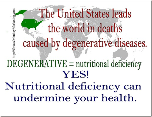 Degenerative-nutritional deficiency
