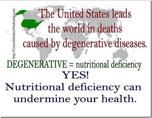 Degenerative-nutritional deficiency