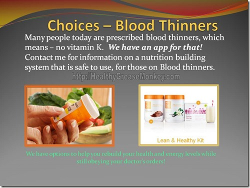 Choices – Blood Thinners