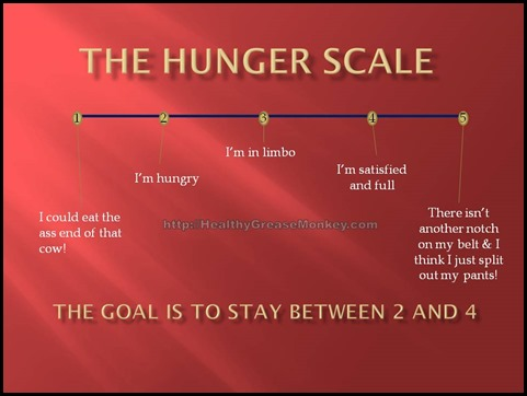 Hunger Scale Healthy Grease Monkey