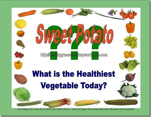 Healthiest Veggie w answer