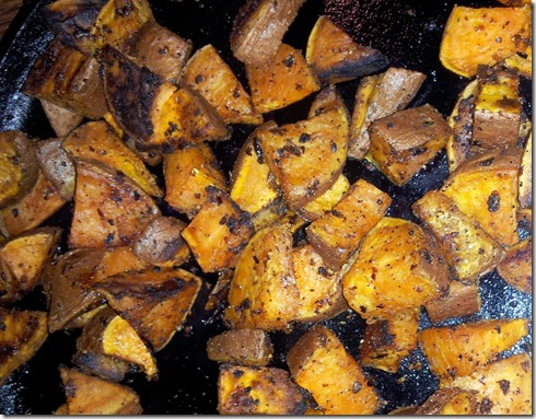 Roasted Sweet potatoes cooked